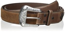 Nocona Belt Co. Men's Top Hand Brown Diamond, Medium, 52 - $57.64