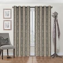 Eclipse Nadya Grommet Blackout Window Curtain Panel, 95-Inch, Black/Grey - $17.64