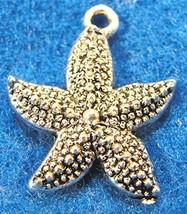 10Pcs. Tibetan Silver Starfish Star Fish Charms Pendants Earring Drops O... - $19.35