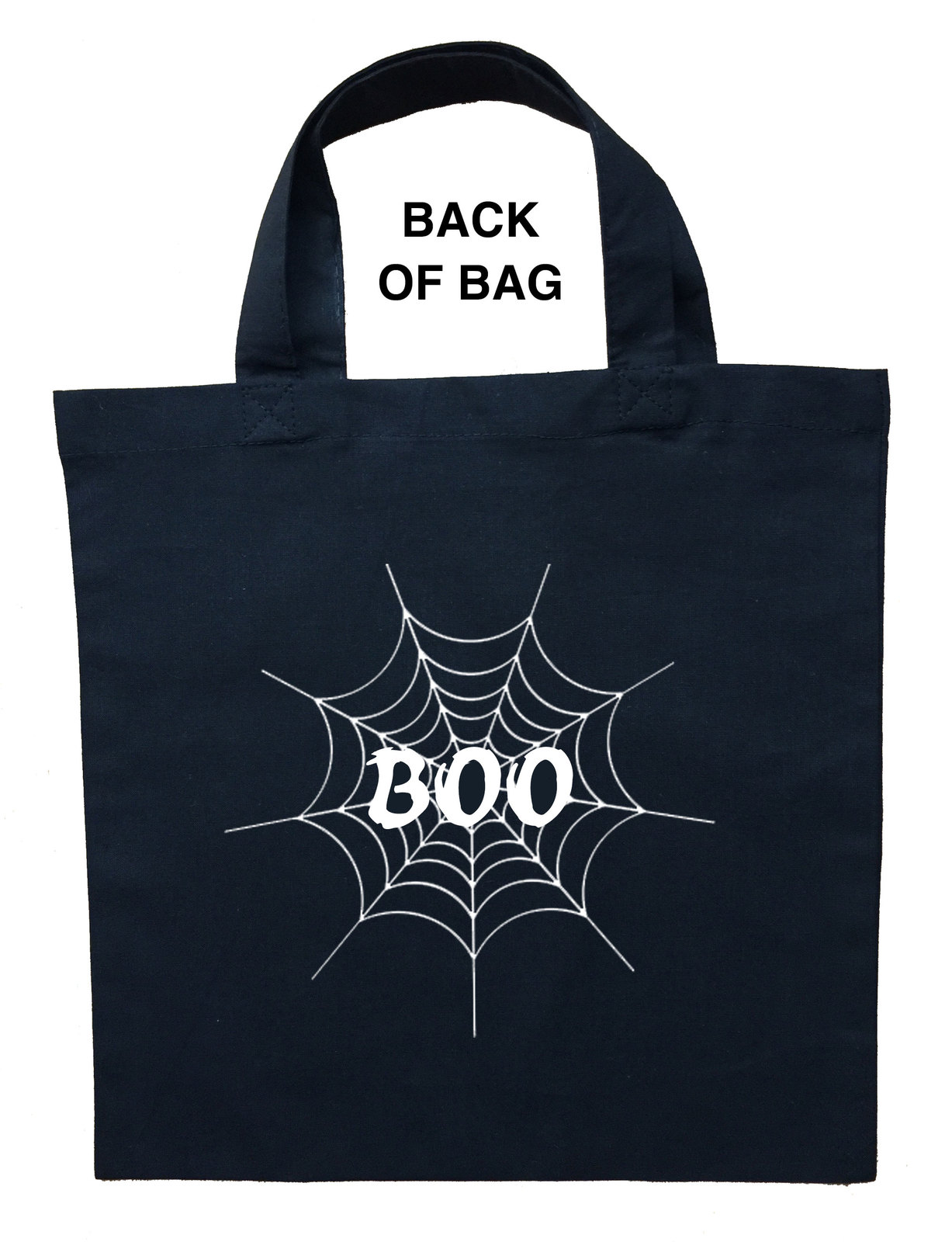Spider Trick or Treat Bag, Personalized Spider Halloween Bag, Spider Loot Bag