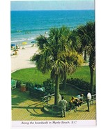 South Carolina Postcard Myrtle Beach Along The Boardwalk - $2.84