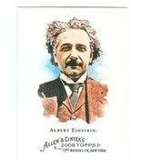 Albert Einstein trading card (Genious Physicist) 2008 Topps Allen and Gi... - $4.00