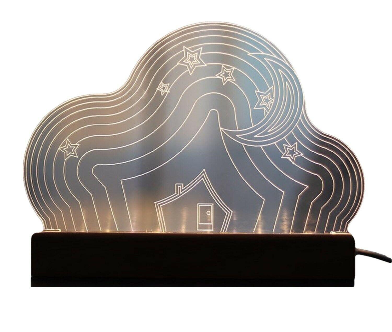 Mooas USB Wired Acryl LED Cloud Night Mood Lights Lighting Lamp Indoor Interior