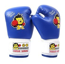 PANDA SUPERSTORE Blue Lion Kids MMA Boxing Mitts Training Gloves for Muay Thai K