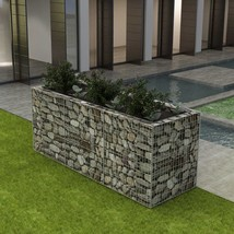 "vidaXL Gabion Planter Steel 106.3""x35.4""x39.4"" Patio Flower Plant Bed Ba... - €146,78 EUR"
