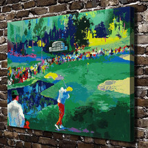 "Leroy Neiman ""Golf Course"" HD Print on canvas large wall picture 30x24"" - $48.51"