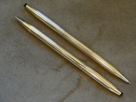 Vintage Cross gf Rose Band pen and pencil set - $25.00