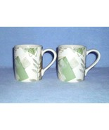 Corelle Coordinates Textured Leaves 2 Mugs Stoneware - $8.99