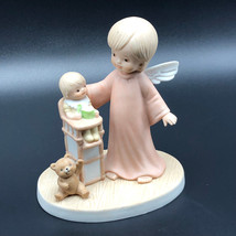 ANGEL UNLIMITED PANATION porcelain figurine 1985 sanmyro high chair baby... - $24.75