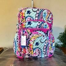 Vera Bradley Campus Backpack Wildflower Paisley Laptop NWT - $69.95