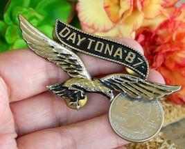 Vintage Daytona 1987 Motorcycle Rally Soaring Eagle Pin Jacket Biker image 8