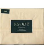 Ralph Lauren Dunham Daffodil Pale Yellow Sheet Set King - $104.00