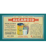 c1905 INK BLOTTER AD for Al-Caroid Ideal Alkalizer by Am. Fermented Co B... - $4.49