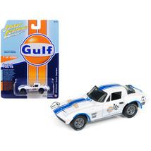 1963 Chevrolet Corvette Grand Sport Gulf #7 White with Blue Stripes Limi... - $13.95