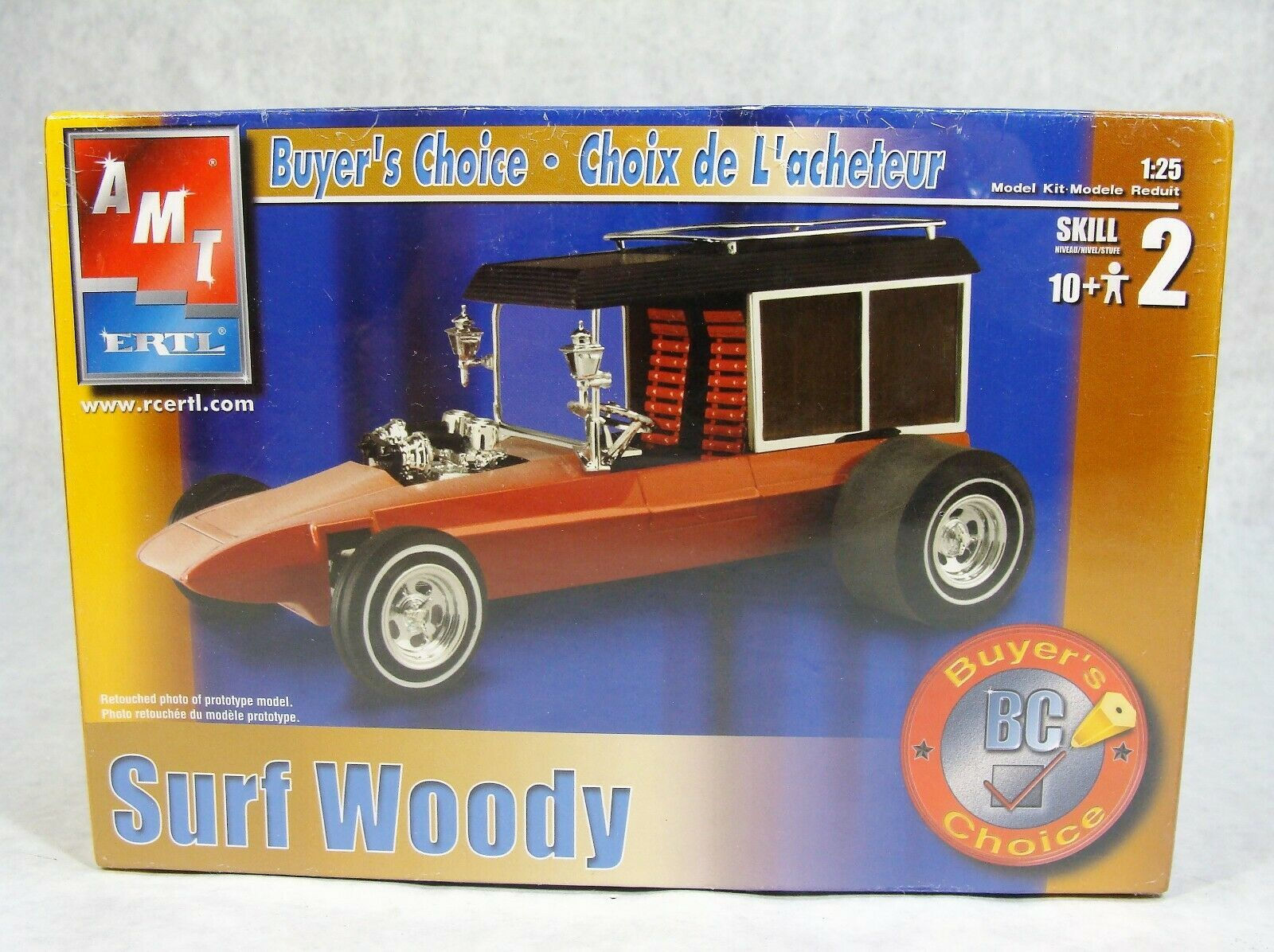 Primary image for AMT/ERTL BUYERS CHOICE SURF WOODY CUSTOM ROD 1:25 CAR MODEL KIT NEW SEALED