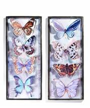 """Framed Butterfly Wall Decor 32"""" Rectangular Metal Features 4 Butterflies Choice - $69.99"""