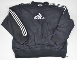 Vintage ADIDAS Pullover windbreaker jacket Embroidered 3 stripe Black spellout L - $24.75