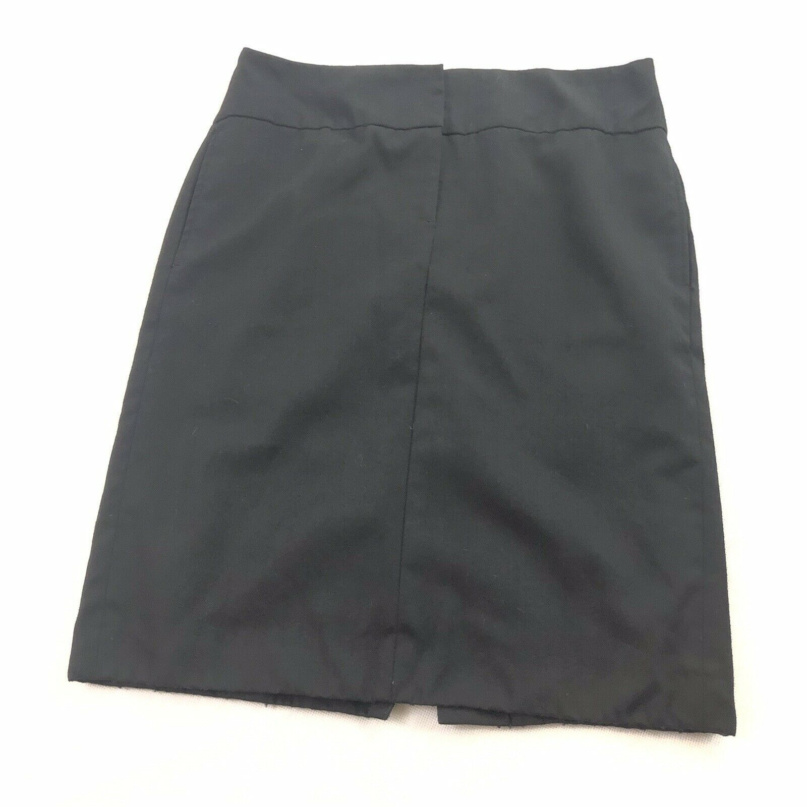 Banana Republic 100 % Wool Pencil Skirt Womens Black Pockets 2 XS Small