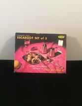 Vintage 70s YAX Escargot set of 3 in original packaging image 2