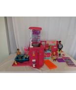 Barbie Sisters Go Camping Pop-up Pink RV Camper + Pool + Bike + Dolls + - $46.55
