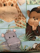 Jungle Babies by Fabric Traditions-BTY-Monkey-Lion-Hippo-Giraffe-Elephant - $9.95