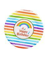 20 Pcs Rainbow Pattern Party Tablewares Disposable Plates - $19.85