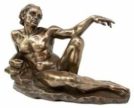 "Michelangelo Creation of Man Adam Figurine 9""L Timeless Sistine Chapel S... - $39.99"