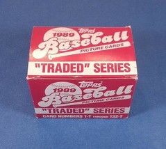 1989 - TOPPS - Traded Series 1-T through 132-T - $2.92