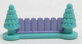 1995 Polly Pocket Vintage Pony Jumpin' Fun - Vertical Slat Fence Bluebird Toy - $6.00