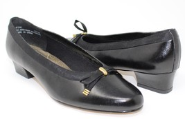 "Womens Black Soft Style by Hush Puppies ""Honey"" 1.5"" Heel- Size 7.5W Wide - £13.60 GBP"