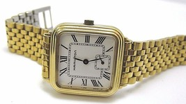 Hamilton Swiss watch co vintage quartz gold tone all original Runs great... - $184.66