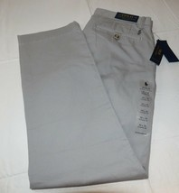 Mens Polo Ralph Lauren 32 X 32 Classic Fit Chino Pant Soft Grey pants 291003 - $50.78