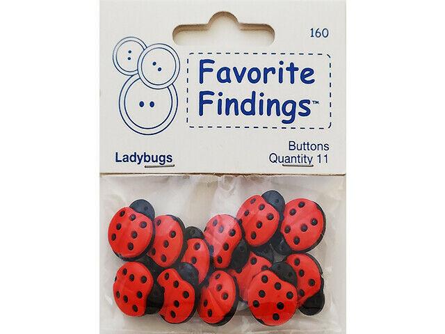 Blumenthal Lansing Co. Favorite Ladybug Baseball Buttons #160
