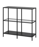 IKEA VIttsjo Shelf Unit Black-Brown Glass 903.058.03 - NEW + FREE SHiPPING - $178.19