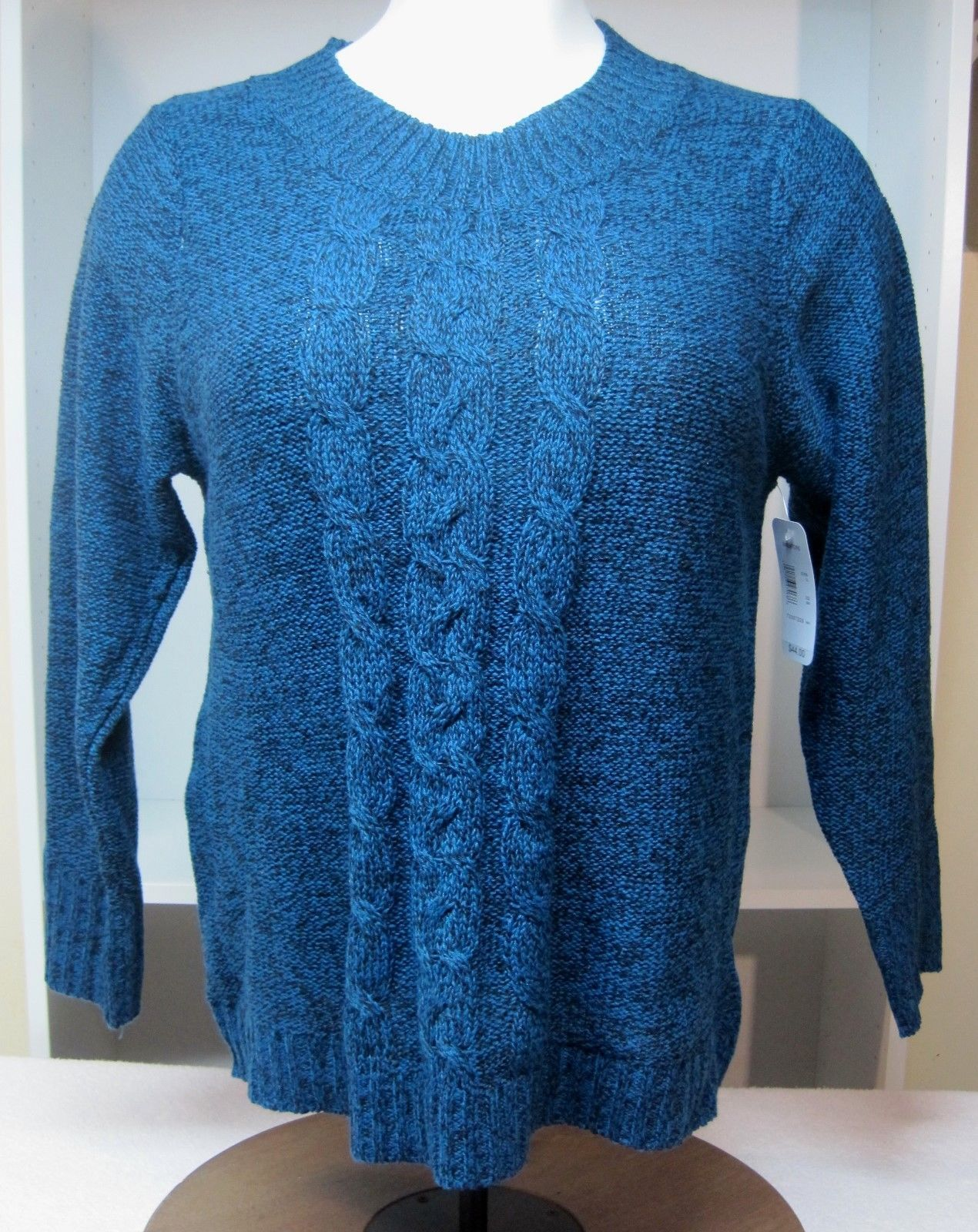 Primary image for NWT Great Northwest Womens Size 3X Blue Black Heather Sweater A15