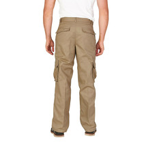 Men's Classic Slim Fit Casual Military Army Twill Trousers Work Cargo Pants image 2