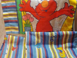 Vintage Sesame Street Twin Set 3pc Fitted Flat Pillowcase - $58.04