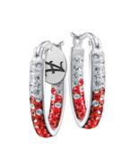 Alabama Crystal Hoop Earrings - $57.99