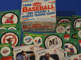 1988 Fleer Baseball 22 Logo Stickers & 132 Trading Cards image 6