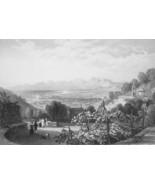 ITALY Leghorn Livorno - 1864 Fine Quality Print Engraving - $49.50