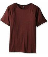 NWT Mens $47 Onzie Yoga Raglan Short Sleeve Shirt in Mars Red S/M - $19.74