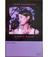 "Jenn Champion ""Single Rider"" 11 x 17 music promo poster, new - $4.95"