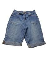 St John's Bay Women's Bermuda Shorts Size 12 Blue Denim Jeans Summer Beach - $14.49