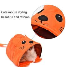 Pet Cat Toys Cute Mouse Tunnels Orange Color Tent Easy House For Small Dog Beds image 4