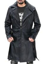 Ryan Gosling Blade Runner Officer K Fur Collar Black Leather Belted Trench Coat image 2