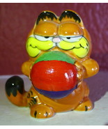 Garfield Cat Beach Ball Summer 1981 Cartoon figurine ceramic Enesco - $39.59