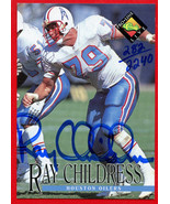 1994 Pro Line Live Ray Childress Autograph Card 282/2240 Oilers HOF - $19.79