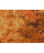 Southwestern Quilting Fabric, Petroglph, Cave Drawings, Deer, Buffalo, A... - $7.99