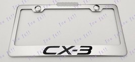 Mazda CX-3 CX 3Stainless Steel License Plate Frame Rust Free W/ Bolt Caps - $12.86