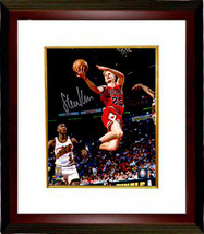 Steve Kerr signed Chicago Bulls Lay Up Action 8x10 Photo Custom Framed- ... - £89.88 GBP